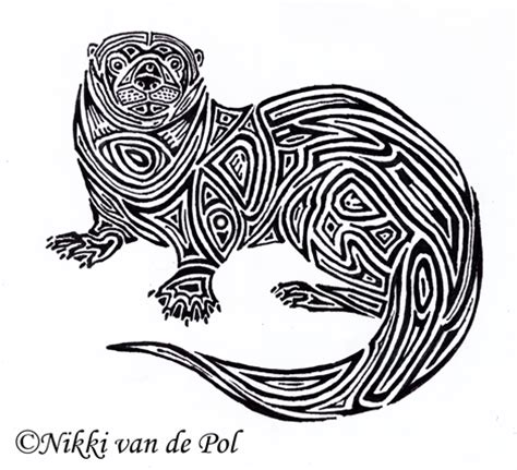 otter tribal by nikki vdp on deviantart