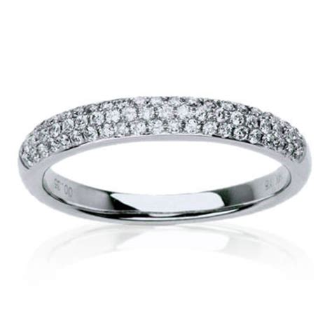 pave wedding band mens womens tungsten carbide