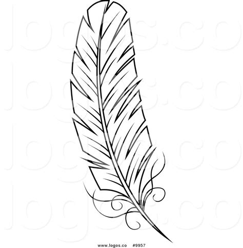 free vector clipart vector clipart feather pencil and in color vector