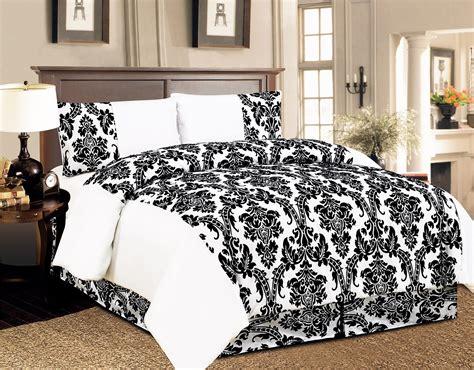 Bed Sheet Sets Uk 4 Pcs Duvet Cover Damask Quilted Luxury Bedding Comforter Set With Bed Sheet Uk Ebay