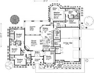 4 Bedroom Country House Plans English Country Style House Plans 2838 Square Foot Home