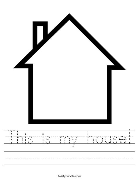 my house printable activities this is my house worksheet twisty noodle