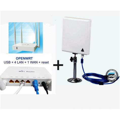 Antena Wifi Router kit wi fi repetidor con antena panel 300mbps router open