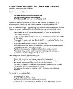 Email Resume Cover Letter Sample Cover Letter Templates Via Email