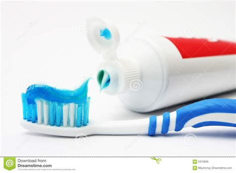 toilet brush tooth brush mouth tooth brush and tooth paste royalty free stock image