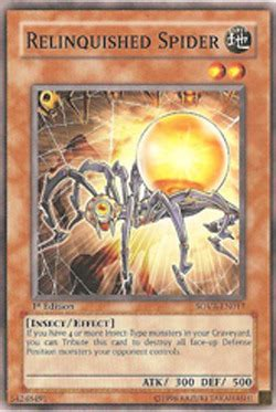 Kartu Yugioh Bending Destiny Common relinquished spider sovr en017 common unlimited edition yu gi oh singles 187 stardust