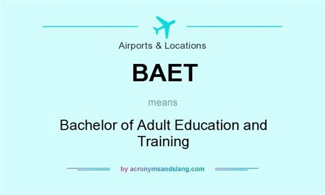 baet bachelor of education and in