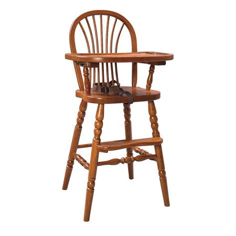 High Chairs Wooden by Baby Furniture Amish Wood Highchair