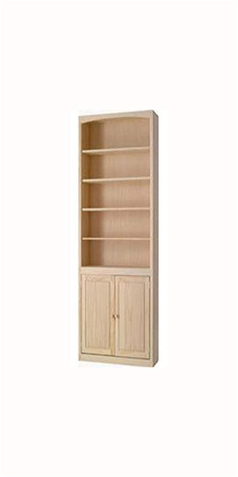 Wide Bookcase With Doors 30 Quot Wide Archbold Arched Pine Bookcase With Doors