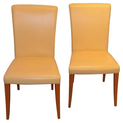 poltrona frau leather poltrona frau vittoria leather chairs in yellow banana