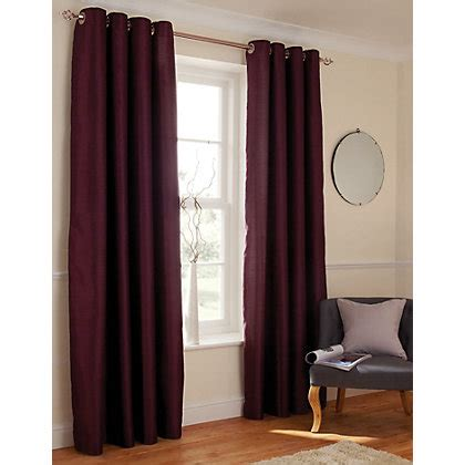plum faux silk curtains home of style faux silk eyelet curtains plum 66 x 54in