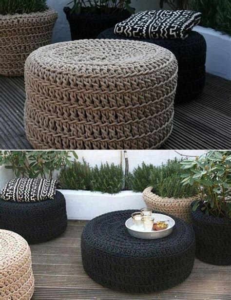 tire ottoman diy tire ottoman the owner builder network