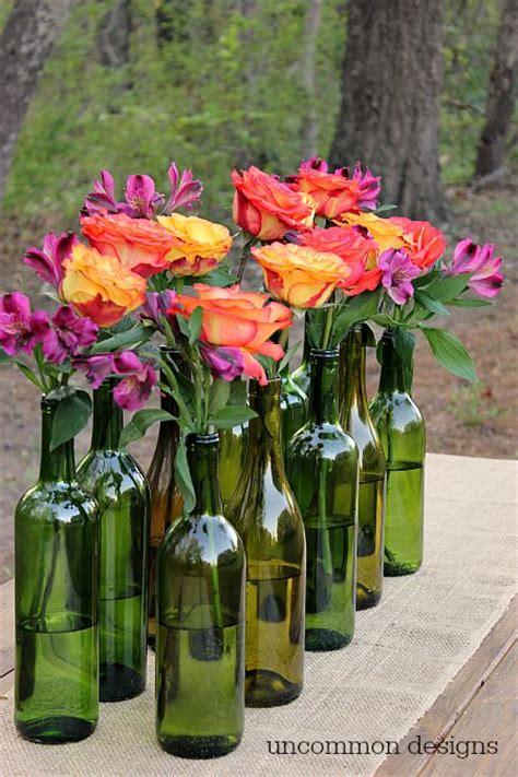 easy and elegant wine bottle centerpiece floral
