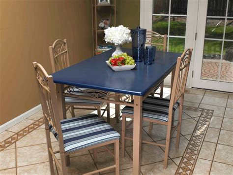 Kitchen Table Project Kitchen Tables And Chairs Furniture Spray Paint Projects Krylon