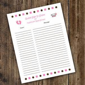 baby shower sign in items similar to baby shower guest sign in and baby advice sheet printable digital file