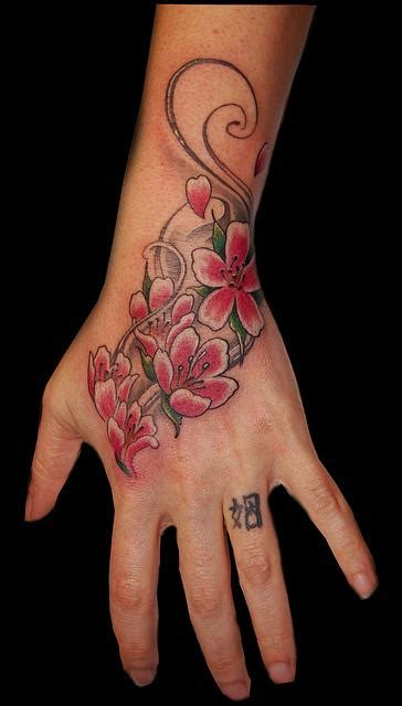 hand arm tattoo designs josina s tropical flower designs