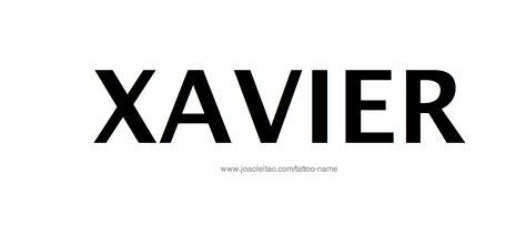 xavier tattoo designs xavier name designs