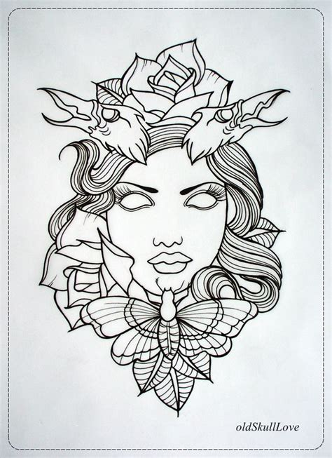disney tattoos outlines dead head tattoo design outline