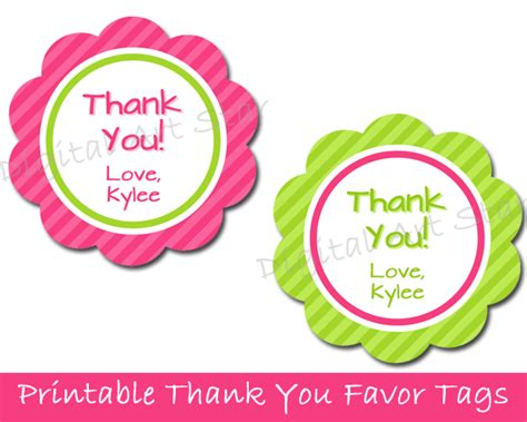 thank you favor tags template wedding favor tags printable template search results