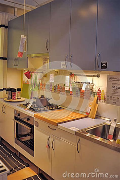 kitchen furniture store kitchen in furniture store ikea editorial image cartoondealer com 38105260