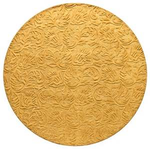 verona sculpted vines 6 round 100 wool pile area rug in gold transitional rugs by home