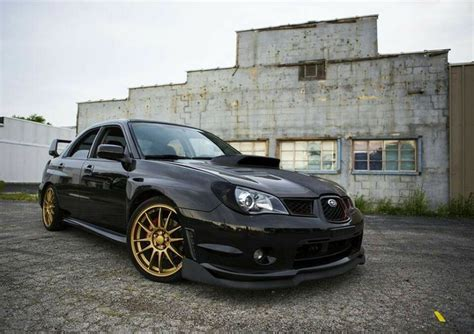 black subaru gold black subaru with gold wheels mmm cars pinterest