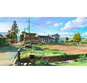 Kunst Malerei Japan Landschaft Dorf Hintergrundbilder  1920x1080