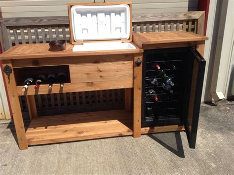 wooden wine cooler cabinet rustic wooden cooler table bar cart wine bar with mini