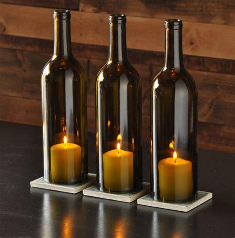 chagne bottle centerpieces wine bottle candle holder centerpieces