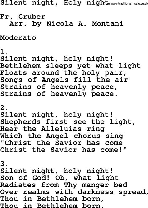 silent testo catholic hymns song silent holy lyrics