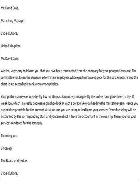 termination letters ms word pages