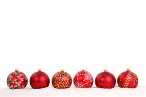 15 assorted christmas ornaments on a white background