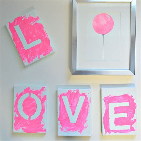 diy beautiful beautiful diy canvas art with kids love in 4 easy steps
