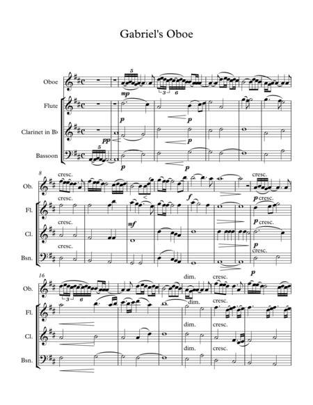 il divo nella fantasia nella fantasia gabriel s oboe wind quartet sheet
