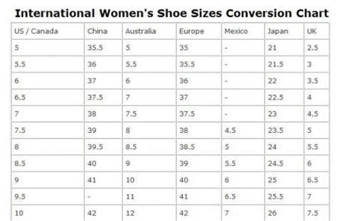 search results for youth to womens size conversion