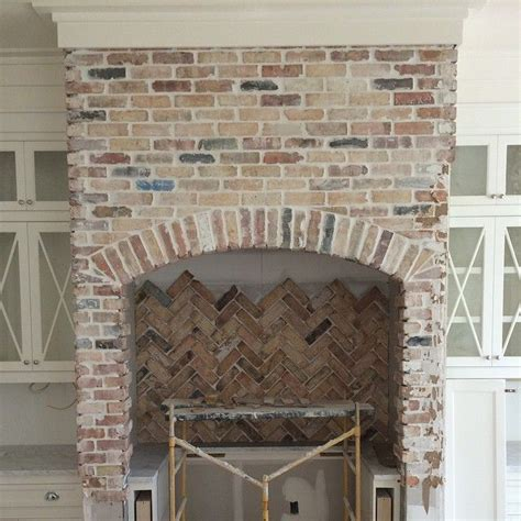 Reclaimed Brick Fireplace by 17 Best Ideas About Fireplace In Kitchen On