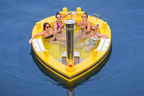 hot tug hot tug a motorized wood fire heated floating hot tub