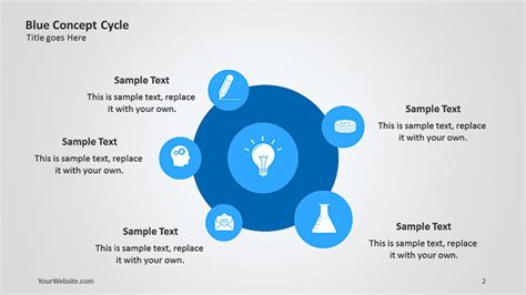 design cycle powerpoint blue concept cycle ppt diagram slide ocean