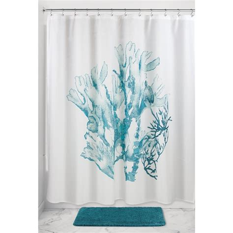 coral and teal curtains interdesign coral fabric shower curtain 72 quot x 72 quot deep