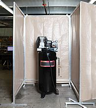 sound screens acoustic air compressor screens portable noise dening screen