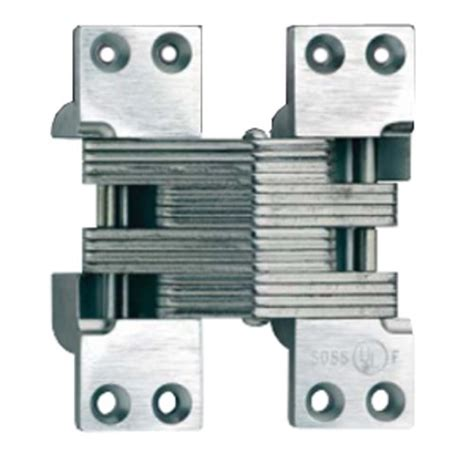 Soss 420 Fire Rated Invisible Hinge Satin Brass 420us4 Cabinetparts Com Soss Hinge Installation Template