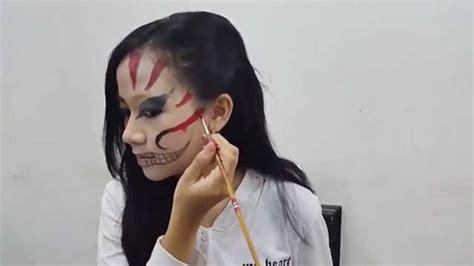 tutorial make up viva quen viva cosmetics two face halloween make up tutorial youtube