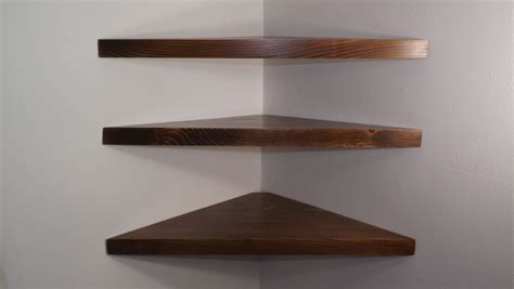 24 Inch Corner Shelf by Set Of 3 24 Inch Floating Corner Shelves With Walnut