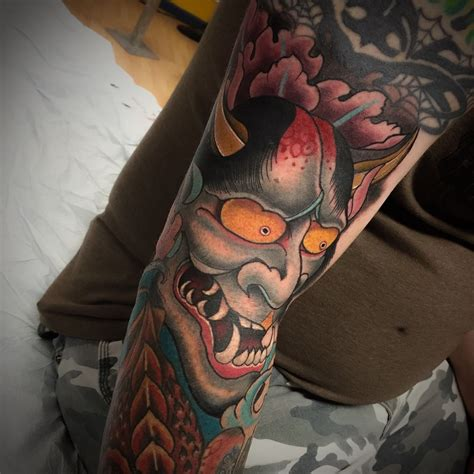 kanji mask tattoo noahmorris hannya japanese tattoo neo traditional hannya