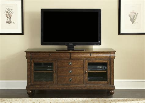 Tv Stand Furniture by Rustic Cherry Tv Stand Chambers Furniture