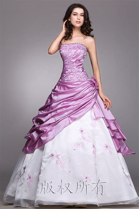 Dress Purple White white and purple wedding dress cocktail dresses 2016