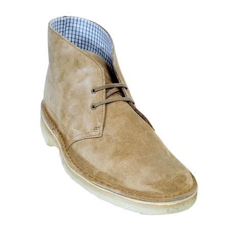 Clarks Leather Sol Leather suede mens shoes in oakwood colour by clarks originals