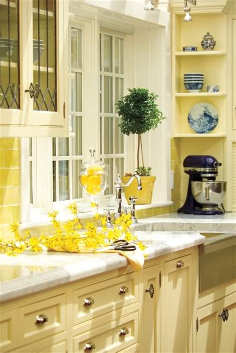 Yellow Kitchen With White Cabinets Live Craft Inspiration Yellow Stuff And Some Kitchens