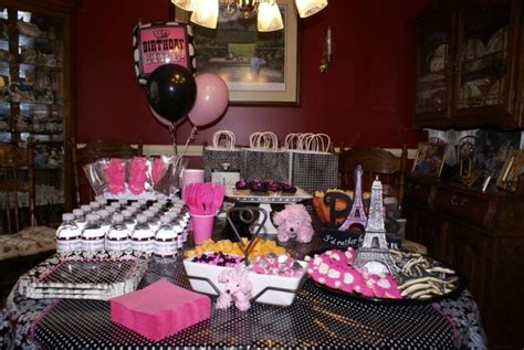 Parisian Style Home Decor by 13th Birthday Party Ideas For Theme Options Whomestudio