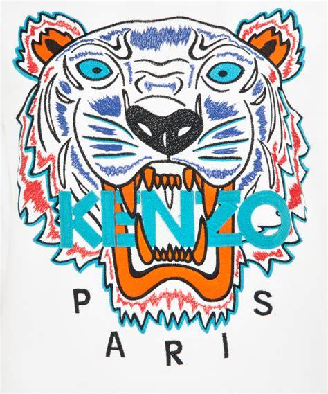 Kenzo Tiger lyst kenzo tiger sweatshirt in white